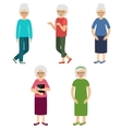 Grandmothers Elderly women vector image