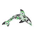 haida dolphin tattoo vector image vector image