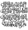 handwritten gothic font for unique lettering vector image
