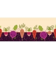Happy root vegetables horizontal seamless pattern vector image vector image