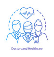 healthcare therapists concept icon medical vector image vector image