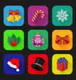 Holiday icons set vector image