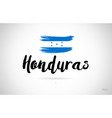 honduras country flag concept with grunge design vector image vector image