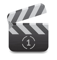 Icon for clapper board vector image