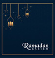 islamic background design for ramadan kareem vector image