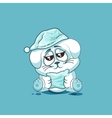 isolated Emoji character cartoon sleepy White vector image vector image