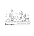 laboratory equipment set science chemistry vector image