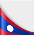 laos flag background vector image vector image