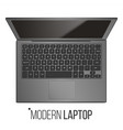 laptop computer realistic modern office vector image vector image