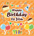 let s celebrate banner happy birthday banner vector image
