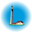 lighthouse evening image vector image vector image
