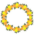 marigold flowers wreath isolated on a white vector image