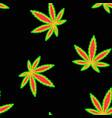 marijuana flag black seamless pattern vector image vector image
