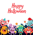 Monsters Cartoon Character In Halloween Party vector image vector image
