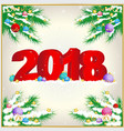 New year background with 2018