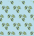 olive branch seamless pattern vector image vector image