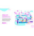 online learning horizontal banner study people vector image vector image