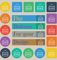 open icon sign Set of twenty colored flat round vector image vector image
