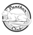 Panther club engraving style emblem vector image vector image