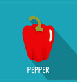 pepper icon flat style vector image vector image