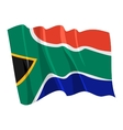 political waving flag of south africa vector image vector image
