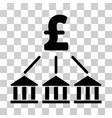 pound bank association icon vector image vector image