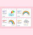 rainbow landing page pride web banners vector image vector image
