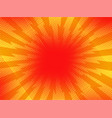 red yellow pop art retro background cartoon vector image vector image