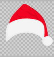 santa hat on transparent background vector image vector image