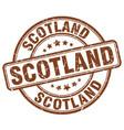 scotland brown grunge round vintage rubber stamp vector image vector image