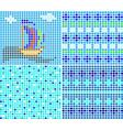 sea ornaments vector image vector image