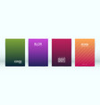 set minimalistic cover template vector image