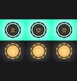 set of black and golden sale badges vector image vector image