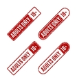 Set of stamps for adults only vector image vector image