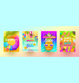 set summer sale promotion banners vector image vector image