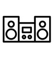 stereo line icon stereo system vector image