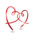 Stylish Ribbon Hearts vector image vector image