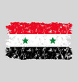 syria flag grunge texture isolated vector image vector image