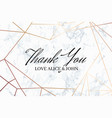 thank you geometric design card template vector image vector image