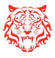 tiger roaring head a tiger vector image