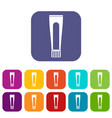 toothpaste tube icons set flat vector image vector image