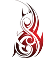 Tribal fire tattoo vector image