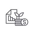 investment portfolio line icon sign vector image