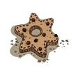 Christmas gingerbread cookie vector image