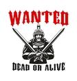 Warrior gladiator knight sign vector image