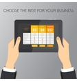 List and bulletin with plan for website vector image