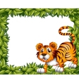 A frame with a tiger vector image vector image