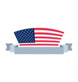 american flag banner sign vector image vector image