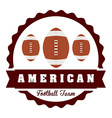 american football design vector image vector image