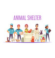 animal shelter composition vector image